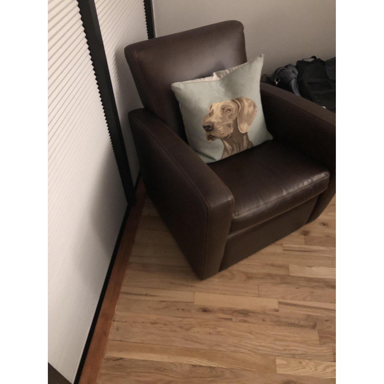Dark Brown Leather Armchair-2