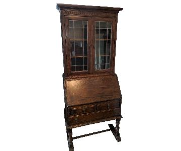 Ethan Allen Royal Charter Secretary w/ Bookcase Hutch