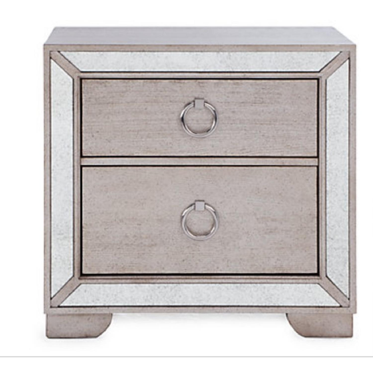 Z Gallerie Ava Contemporary Mirrored Nightstand