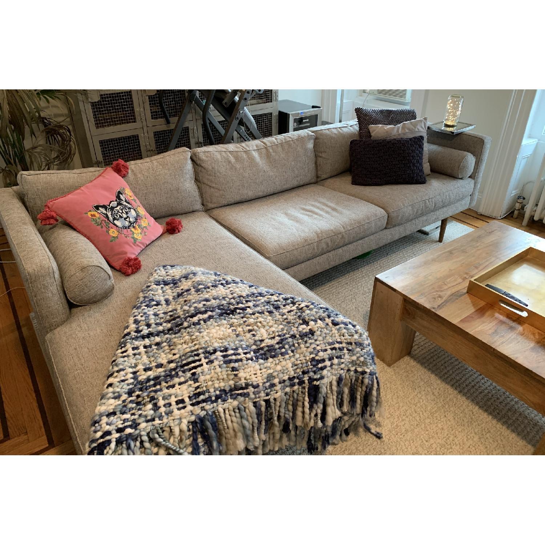 West Elm Monroe Mid-Century 2-Piece Chaise Sectional Sofa-1