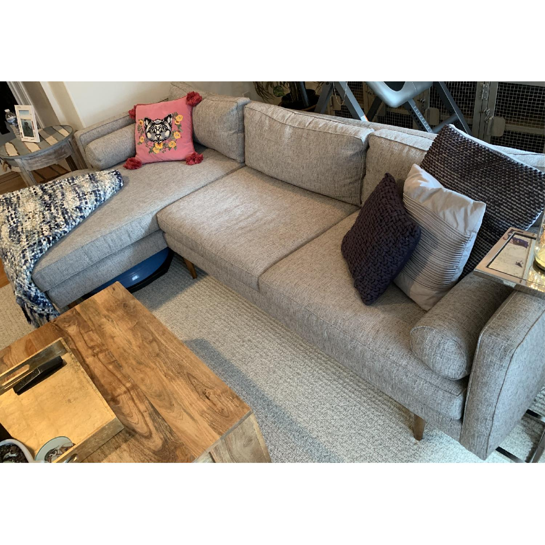 West Elm Monroe Mid-Century 2-Piece Chaise Sectional Sofa-2