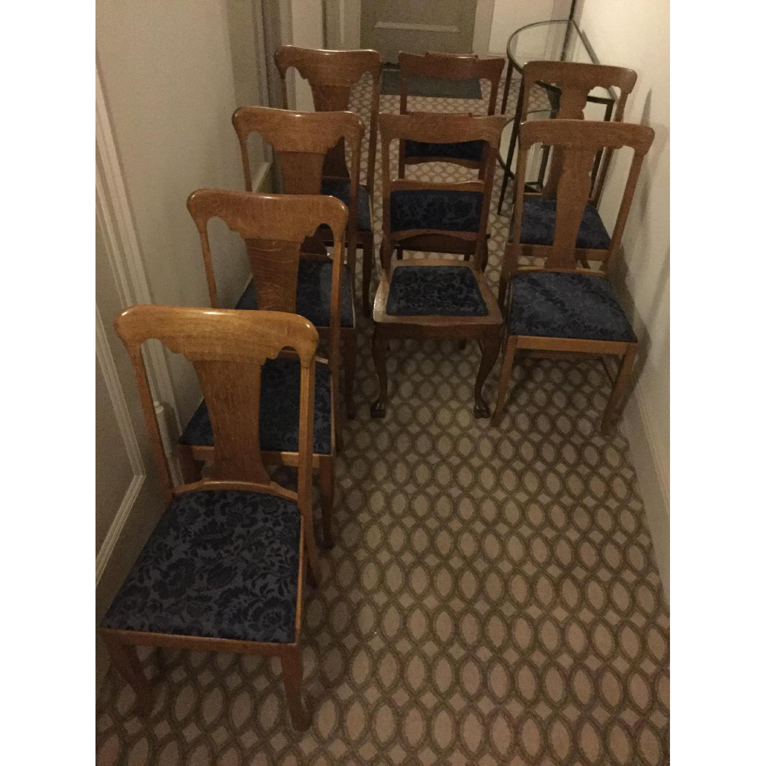 Sikes Chair Company Queen Anne Quarter-Sawn Oak Chairs-0