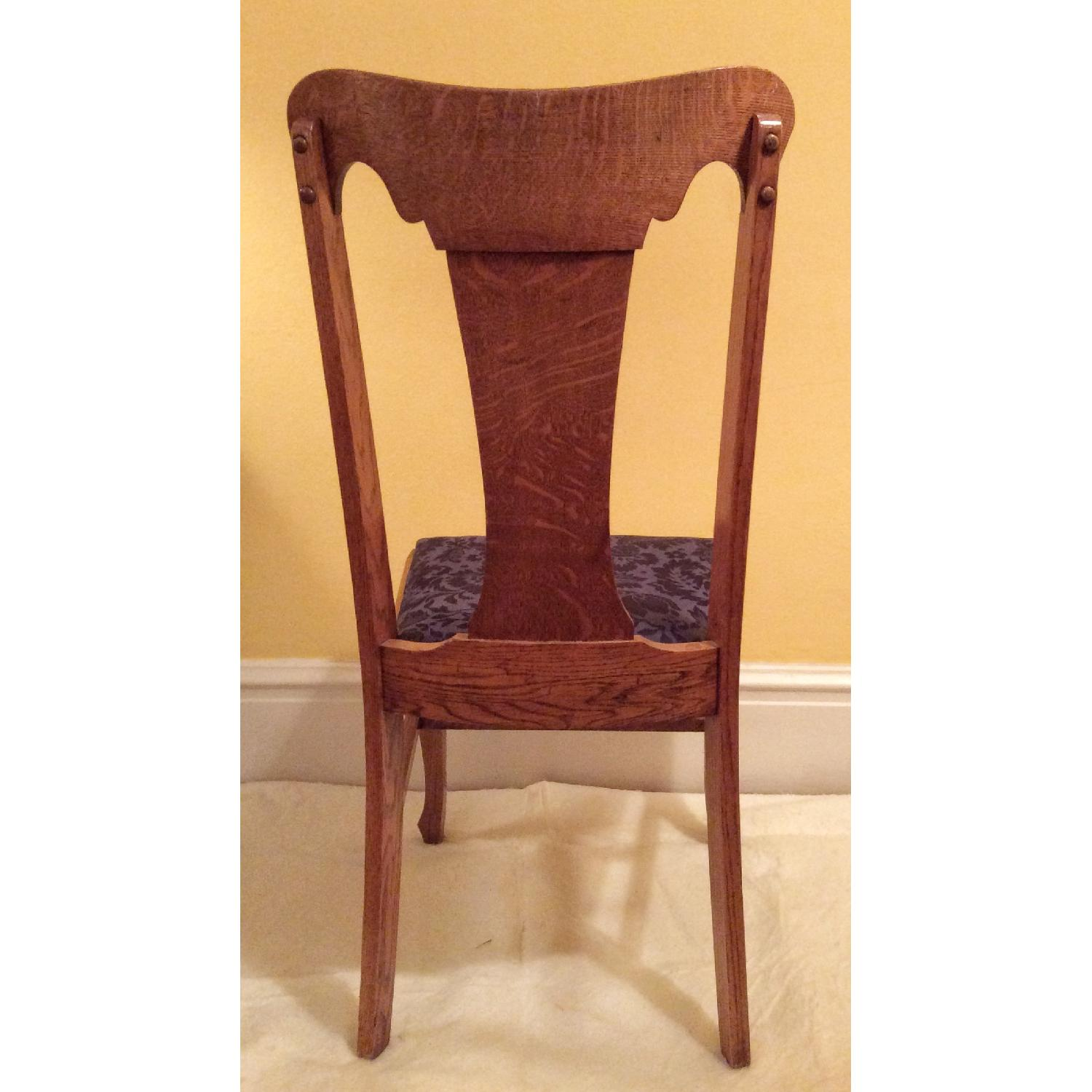 Sikes Chair Company Queen Anne Quarter-Sawn Oak Chairs-3
