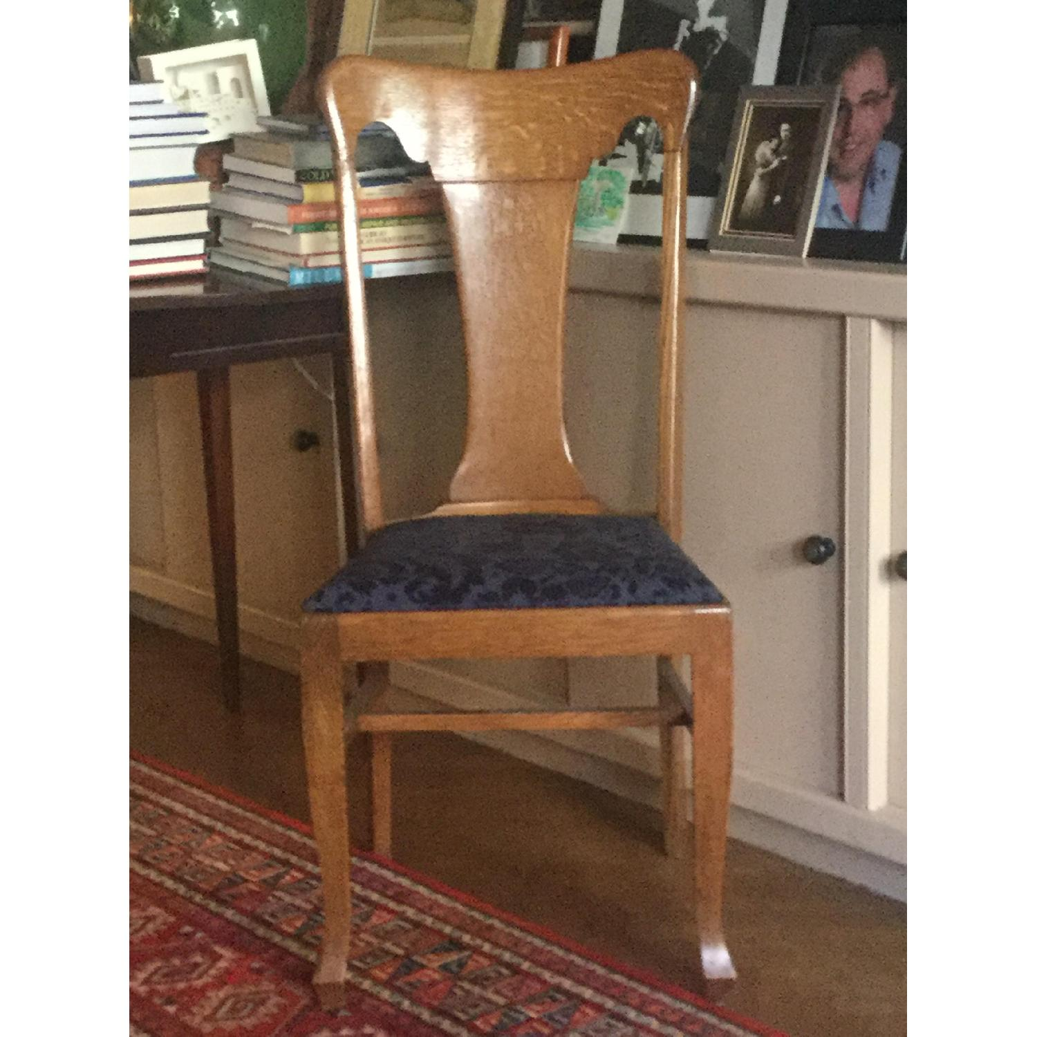 Sikes Chair Company Queen Anne Quarter-Sawn Oak Chairs-4