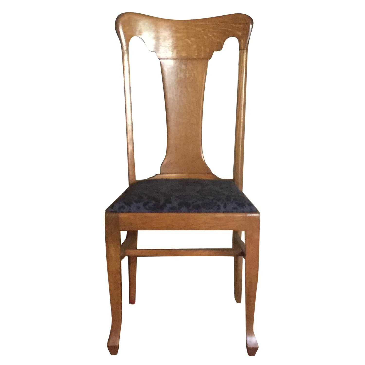 Sikes Chair Company Queen Anne Quarter-Sawn Oak Chairs
