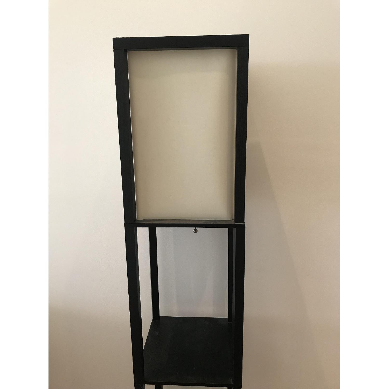 Black Floor Lamp w/ Shelves-1