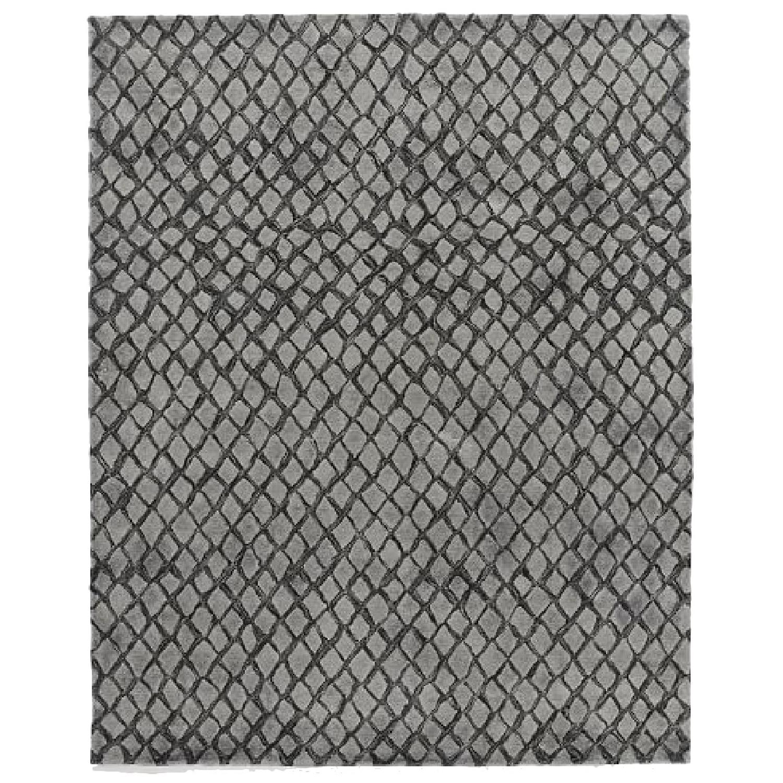 West Elm Serpentine Slate Grey Wool Rug