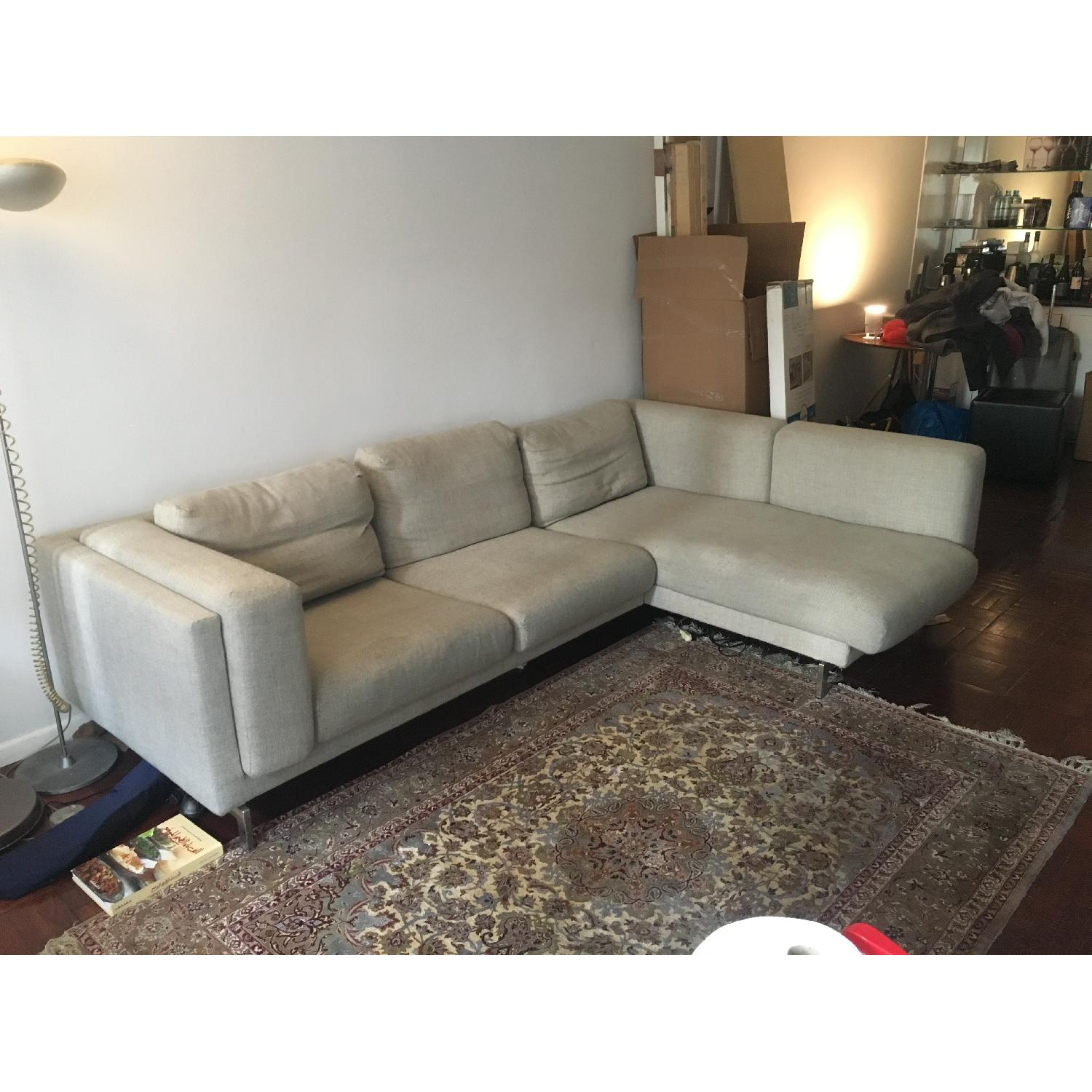 Ikea Nockeby Sectional Sofa w/ Right Chaise-0