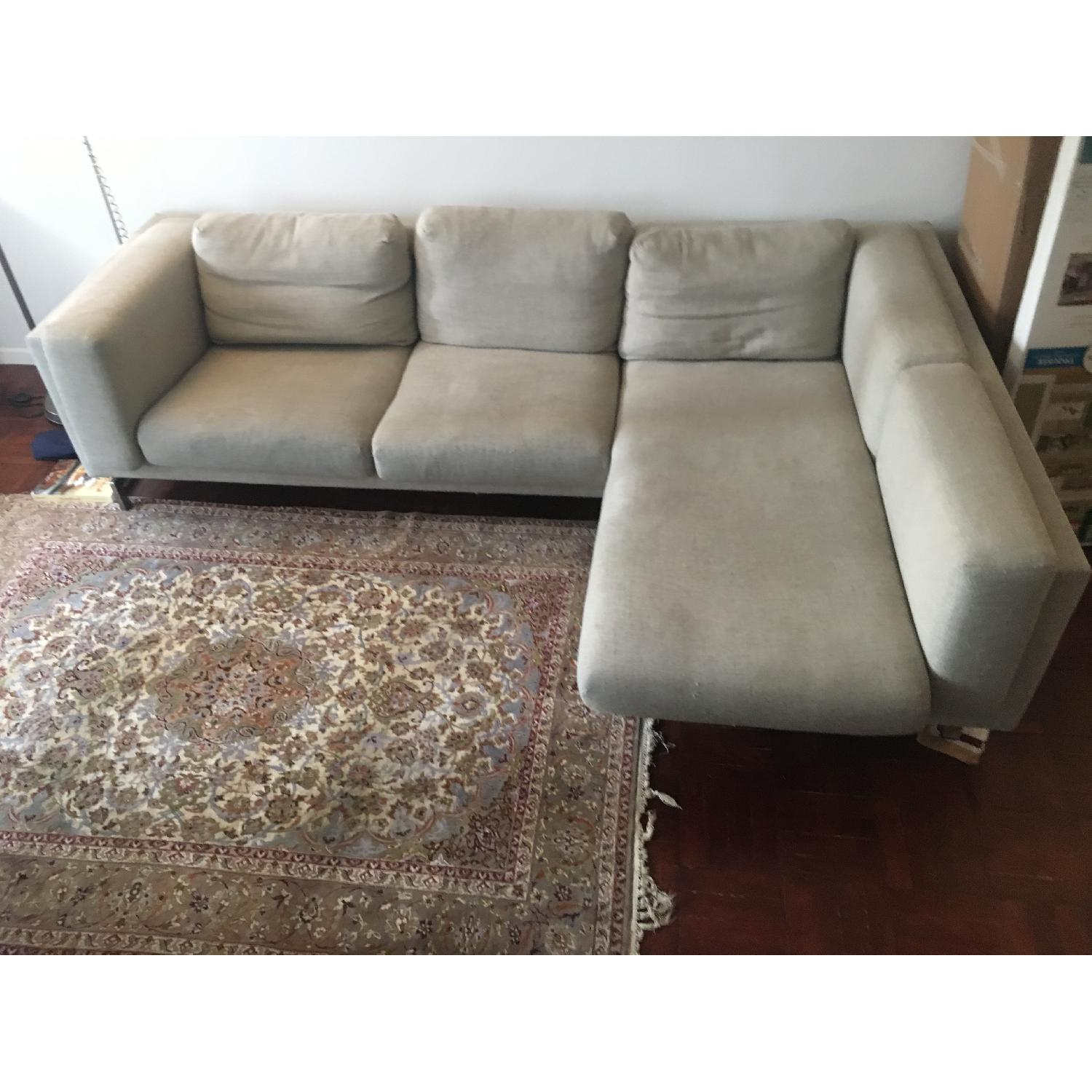 Ikea Nockeby Sectional Sofa w/ Right Chaise-1