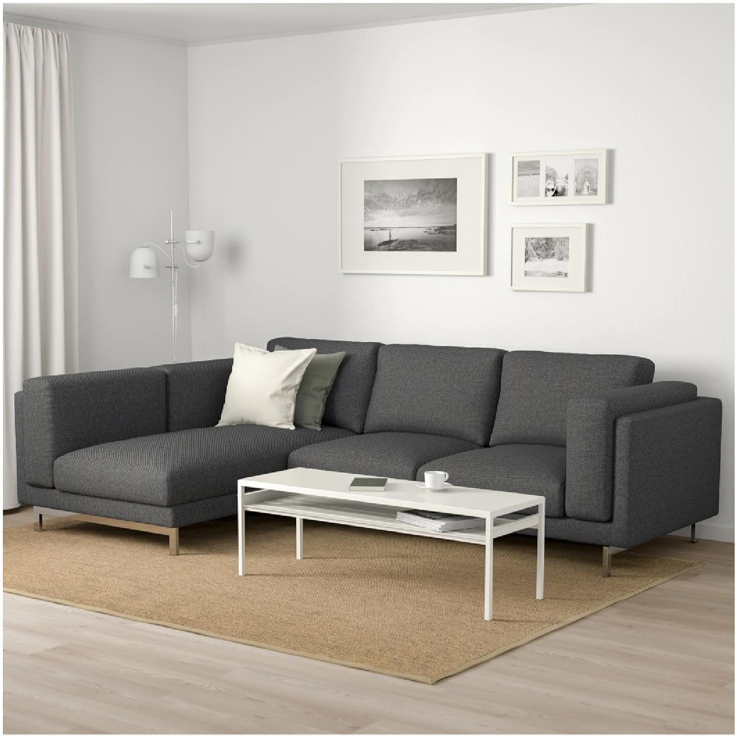 Ikea Nockeby Sectional Sofa w/ Right Chaise-2