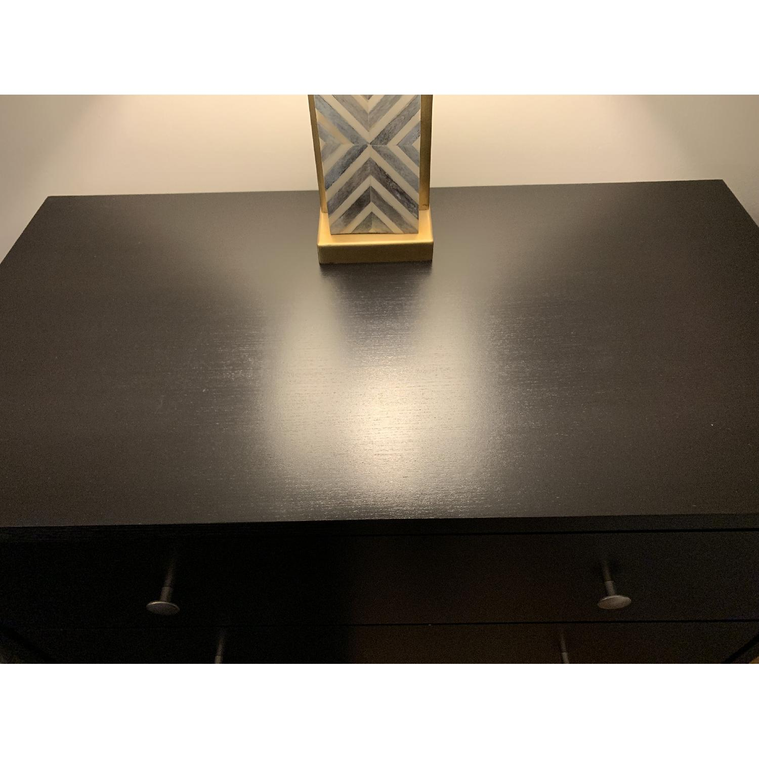 Crate & Barrel Black 4 Drawer Dresser-1