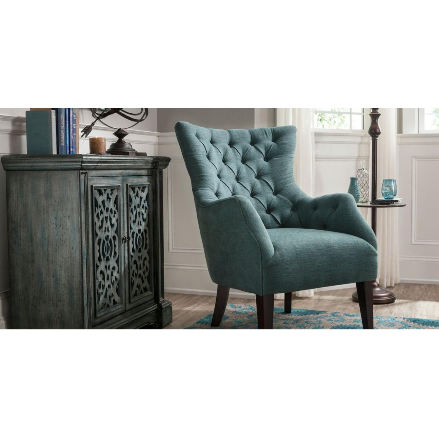 Raymour & Flanigan Angora Chenille Accent Chair-0