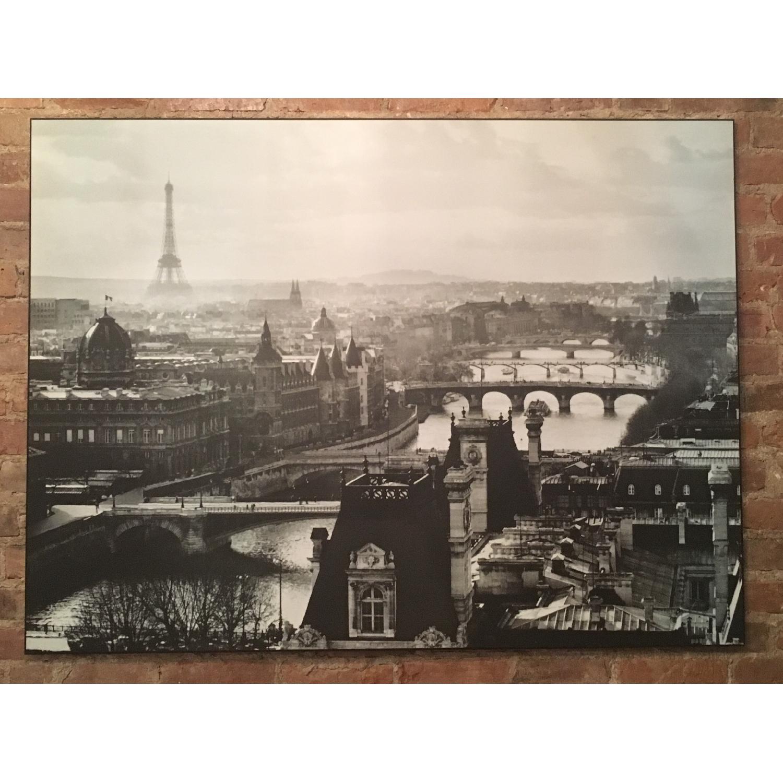 Z Gallerie Paris Eiffel Tower Seine Wood Mounted Print-0
