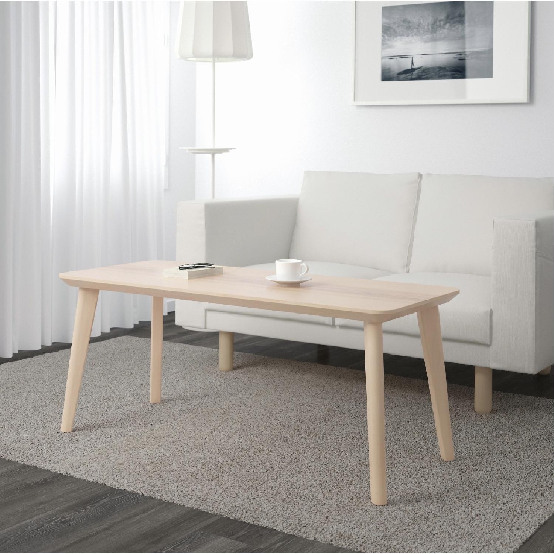 Ikea Lisabo Ash Veneer Coffee Table-3