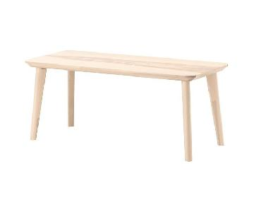 Ikea Lisabo Ash Veneer Coffee Table