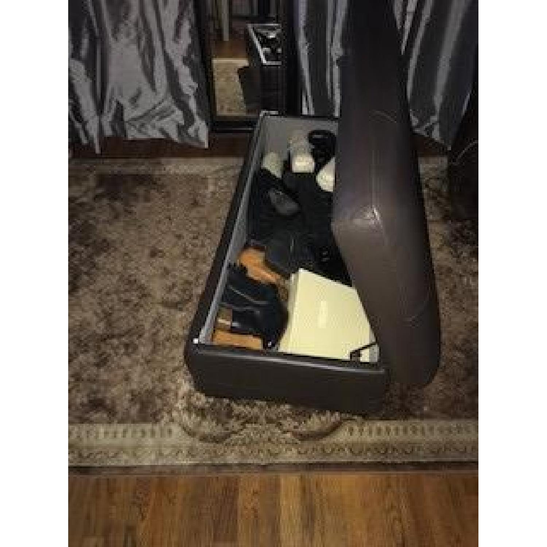 Raymour & Flanigan Garrison Leather Storage Ottoman-1