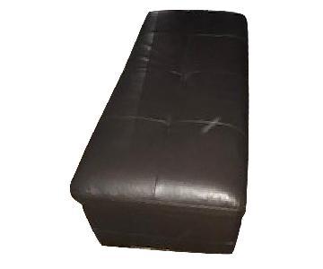 Raymour & Flanigan Garrison Leather Storage Ottoman