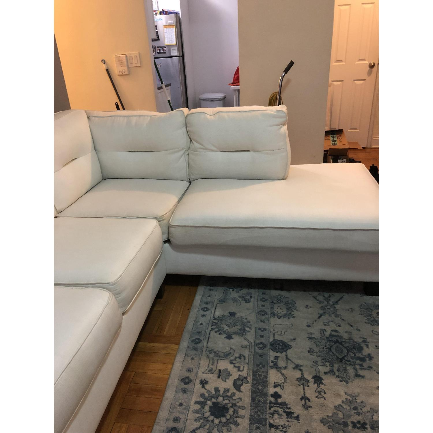 Kirkland White 2-Piece Sectional Sofa-0