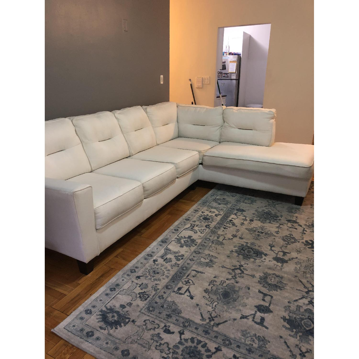 Kirkland White 2-Piece Sectional Sofa-1