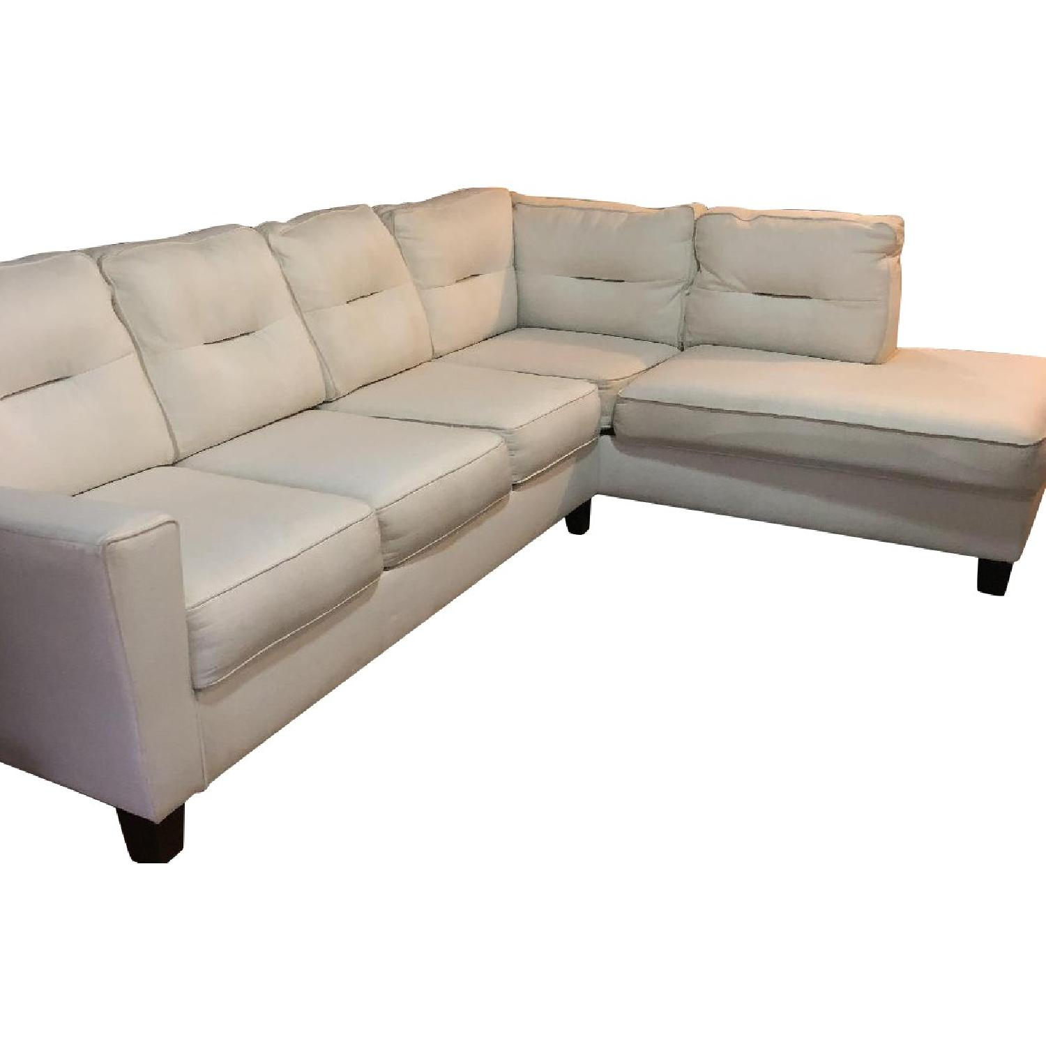 Kirkland White 2-Piece Sectional Sofa