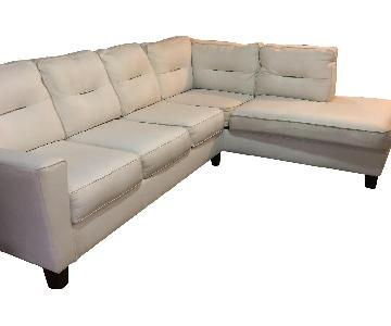 Kirkland White 2-Piece Sectional Sofa