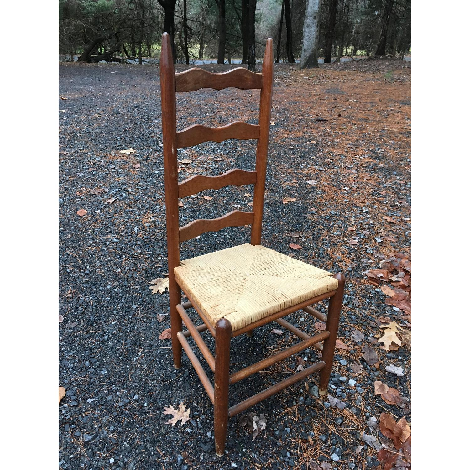 Vintage Ladder Back Dining Chairs-0