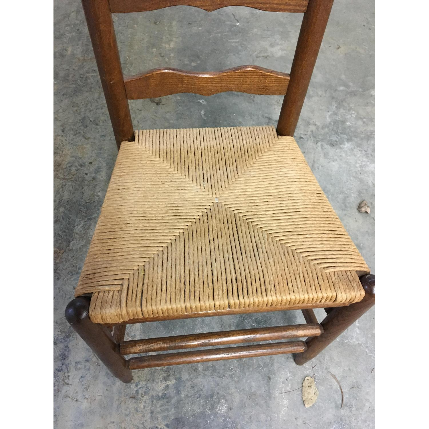Vintage Ladder Back Dining Chairs-1