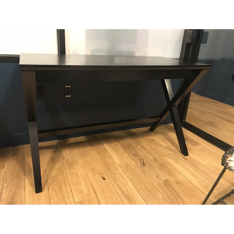 Crate & Barrel Spotlight Ebony Writing Desk-0