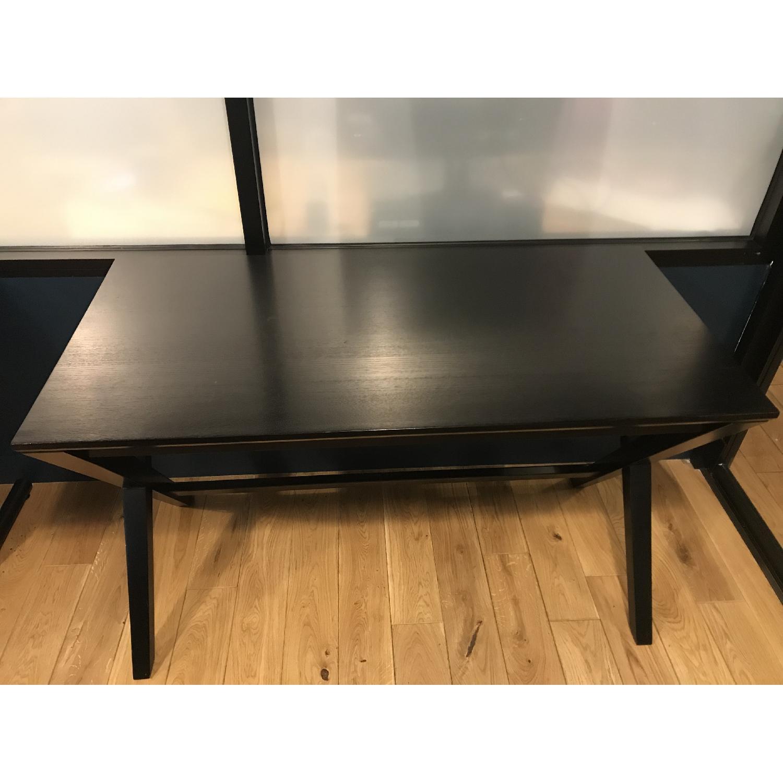 Crate & Barrel Spotlight Ebony Writing Desk-1