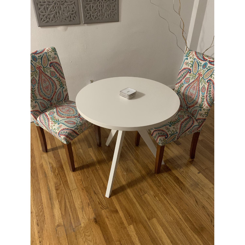 West Elm White Tripod Table-0