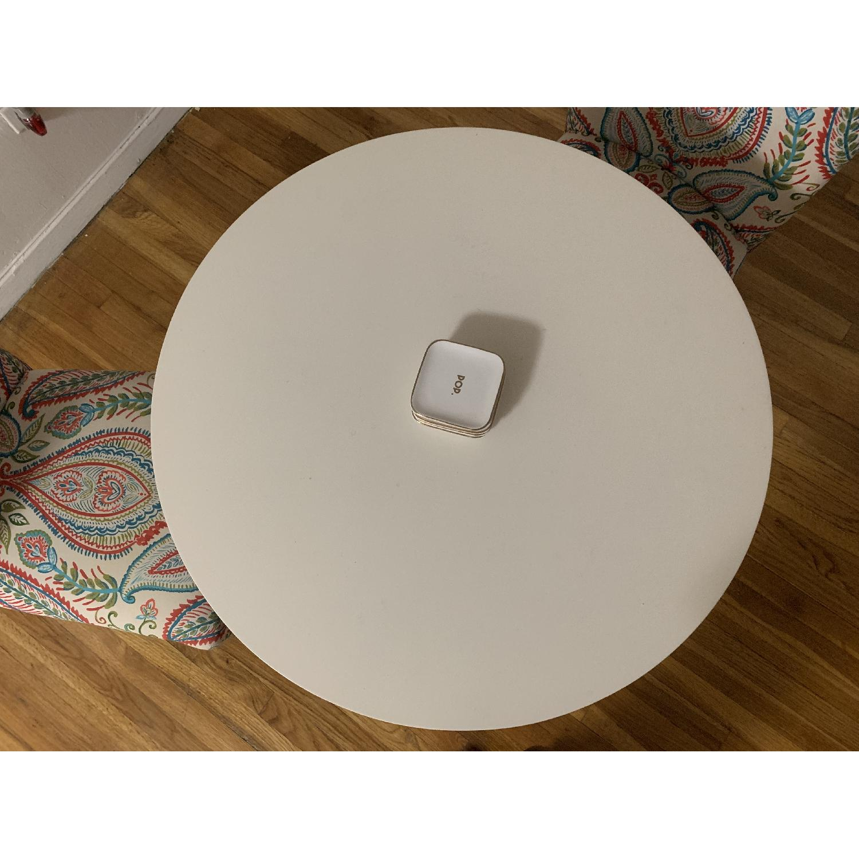 West Elm White Tripod Table-1