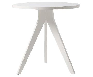 West Elm White Tripod Table