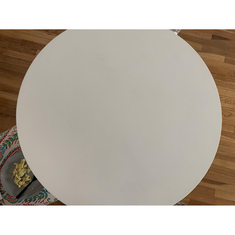 West Elm White Tripod Table-4