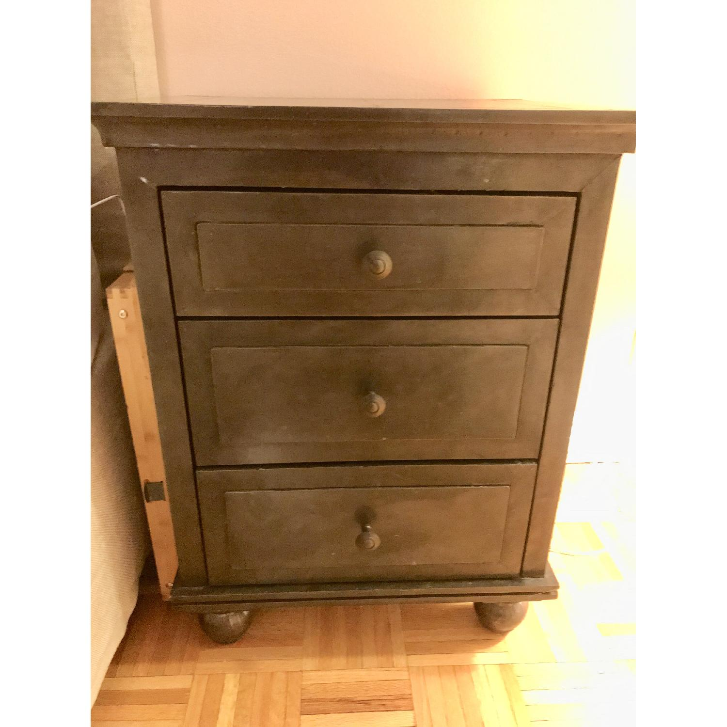 Restoration Hardware Annecy Metal Wrapped Nightstand-1