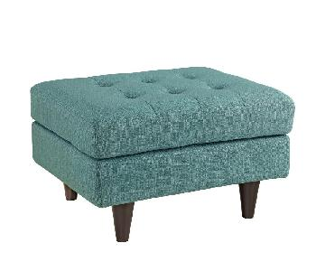 Modway Empress Upholstered Ottoman in Laguna