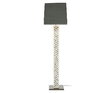 West Elm Chevron Gray Floor Lamp