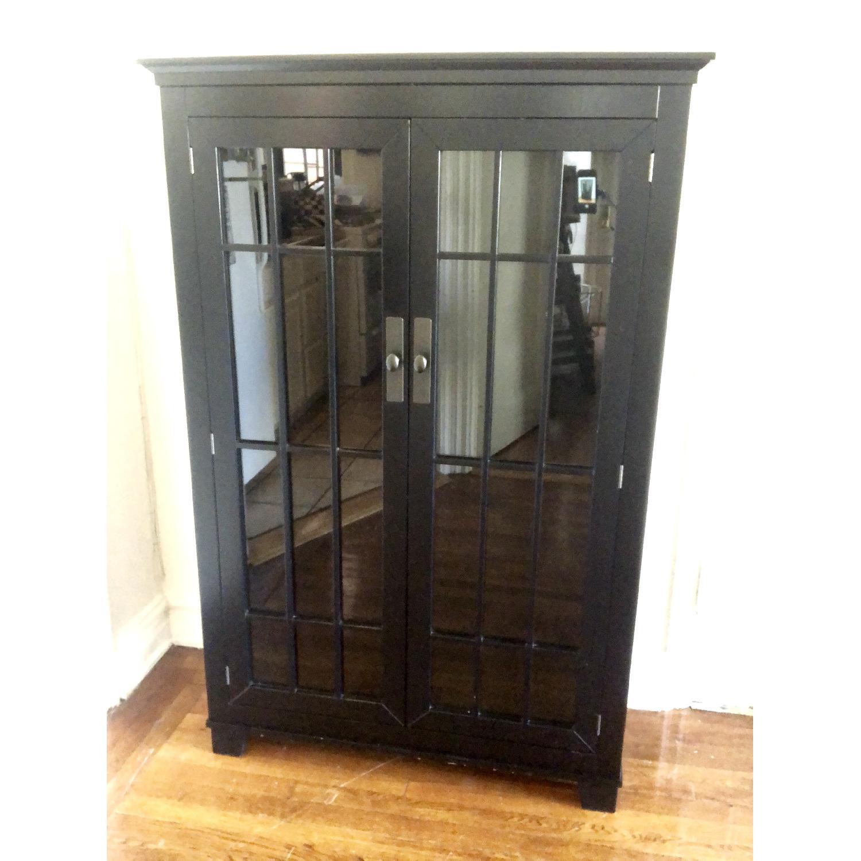 Crate & Barrel Black Storage Cabinet-0