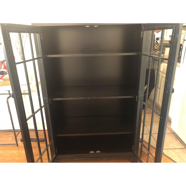 Crate & Barrel Black Storage Cabinet-1