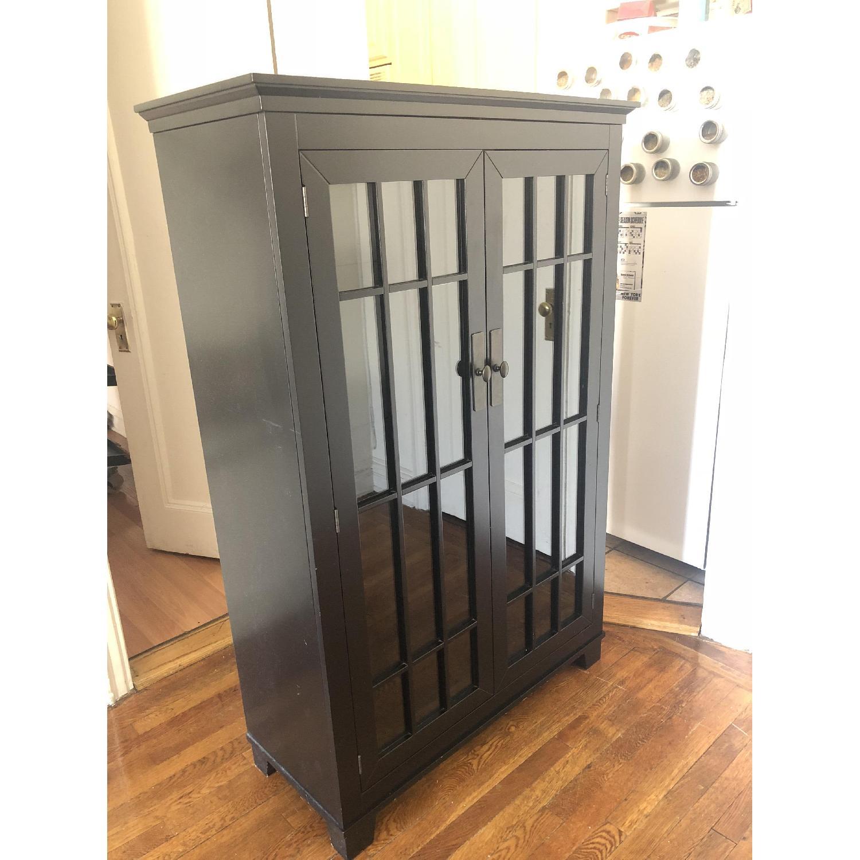 Crate & Barrel Black Storage Cabinet-2