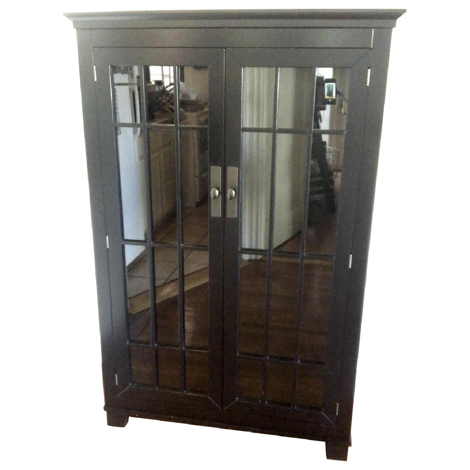Crate & Barrel Black Storage Cabinet