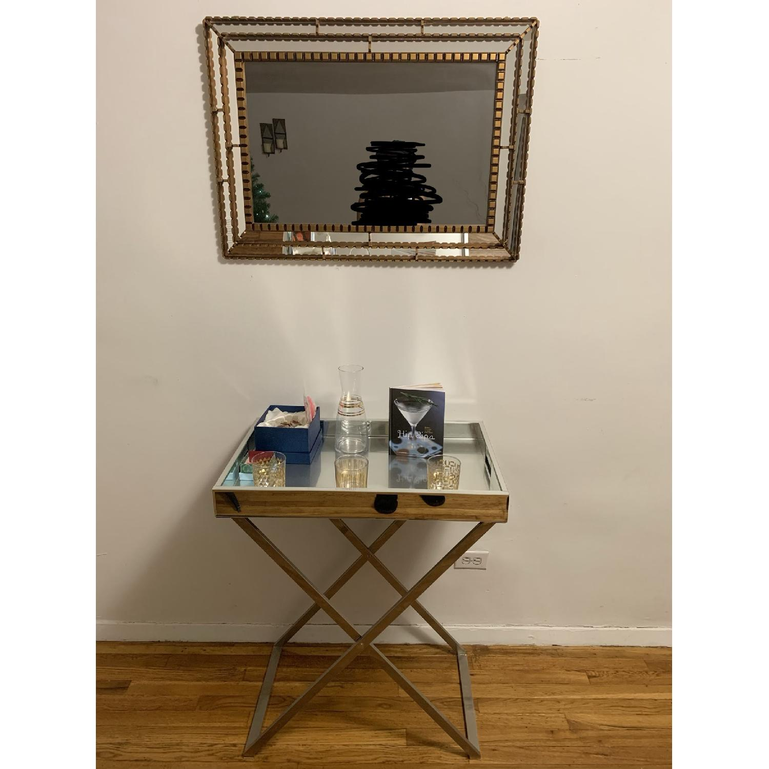 West Elm Butler Tray w/ Stand-0