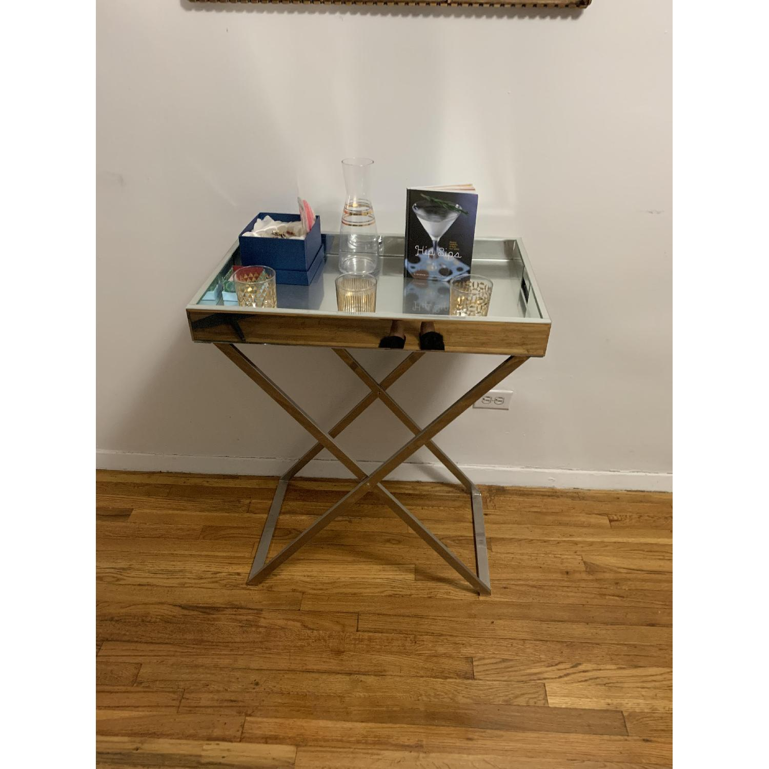 West Elm Butler Tray w/ Stand-1