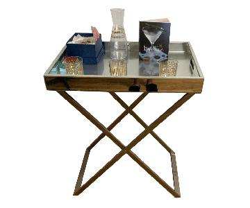 West Elm Butler Tray w/ Stand