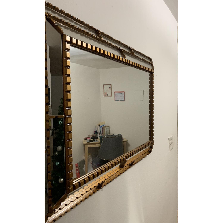 West Elm Gold Trimmed Mirror-1