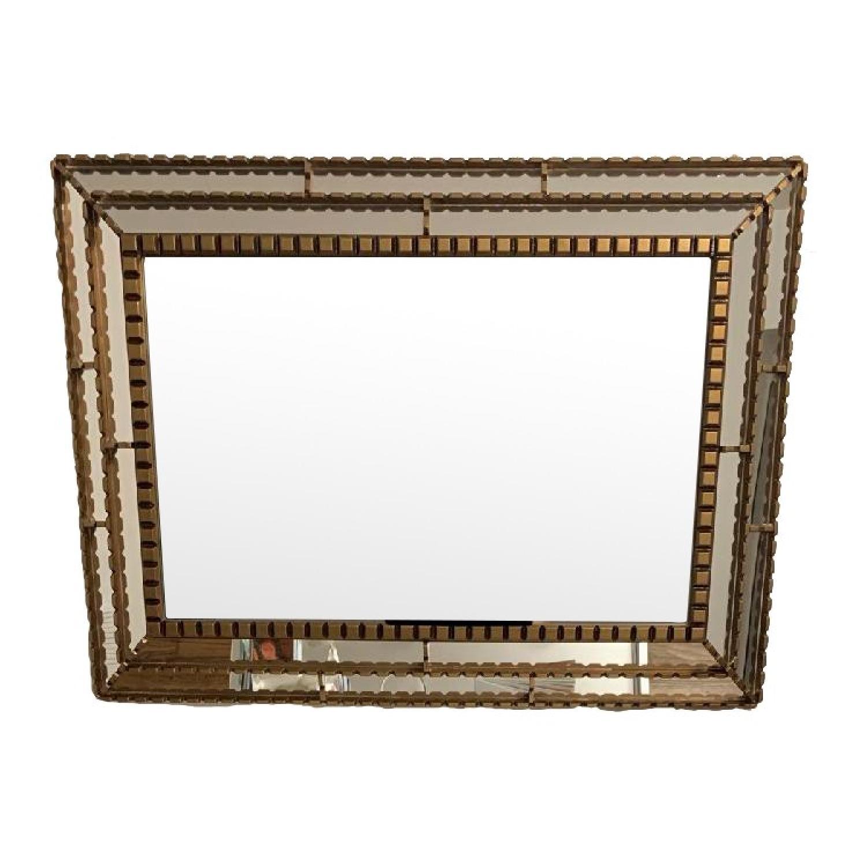 West Elm Gold Trimmed Mirror