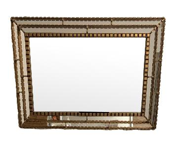 West Elm Gold Trimmed Mirror
