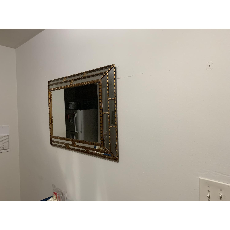 West Elm Gold Trimmed Mirror-2