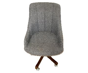 Gray Nailhead Rolling Chair