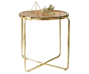 Urban Outfitters Gala Side Table in Gold/Brass