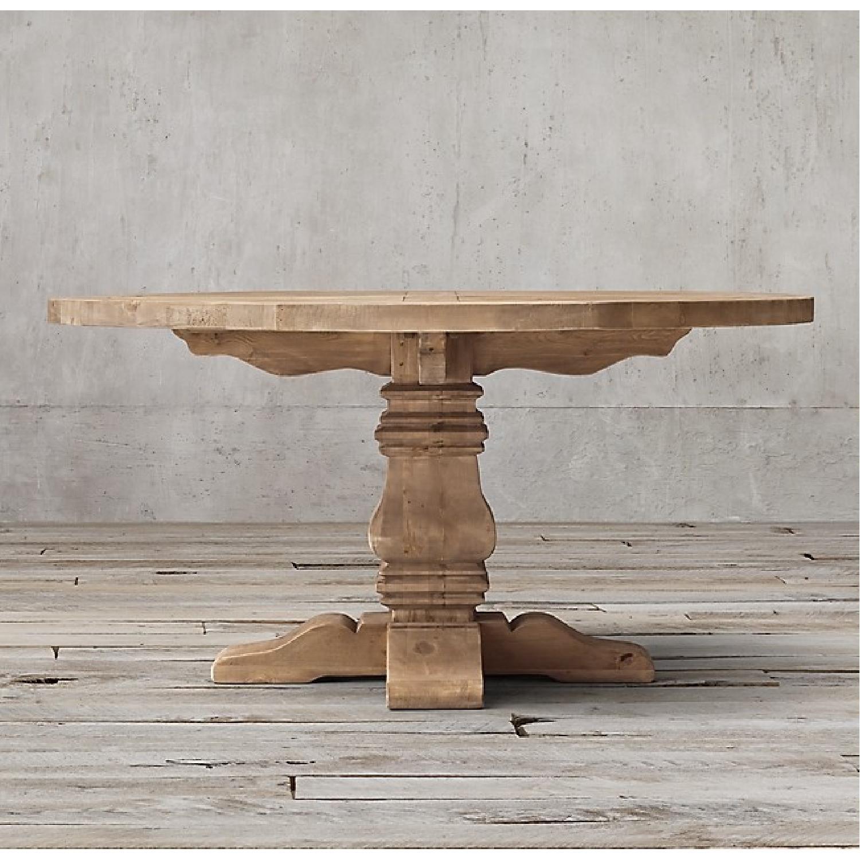Restoration Hardware Salvaged Wood Round Dining Table-0